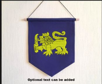 Embroidered Pennant with 31 AES